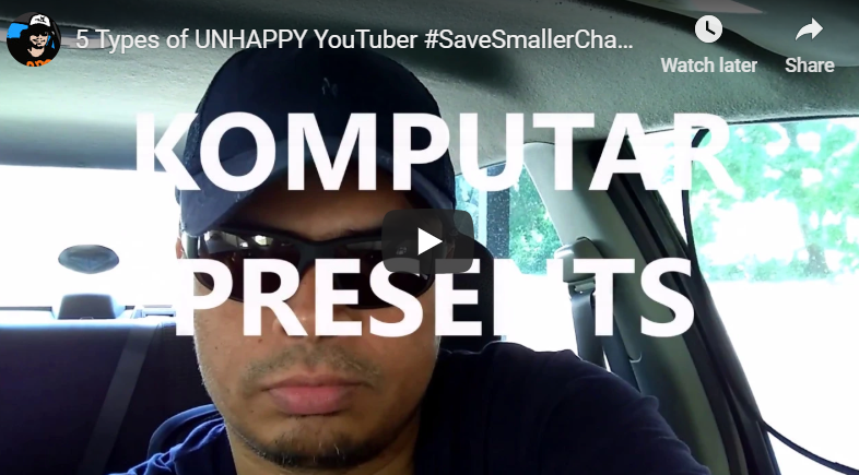 5 Types of UNHAPPY YouTuber #SaveSmallerChannels
